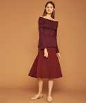아오엠크(AOEMQ) [PRE-FALL] TRUMPET SKIRT BURGUNDY