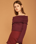 아오엠크(AOEMQ) [PRE-FALL] OFF SHOULDER BURGUNDY