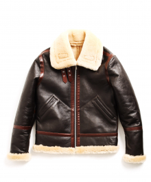 USF SHEARLING MOUTON JACKET BROWN