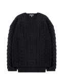 피스워커() Heavy Twist knit - Black / Semiover