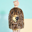 브이브이브이(VVV) VVV MIRACLE HEART LEOPARD FAUX FUR COAT