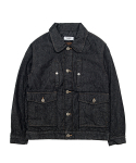 바스틱(vastic) Vastic Multi Pocket Denim Jacket_Black