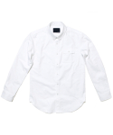 FLAP POCKET OXFORD SHIRT_WHITE