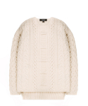 피스워커() Heavy Twist knit - Ivory / Semiover