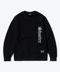 셔터(SHUTTER) SHUTTER REALITY SWEAT SHIRTS (BLACK)