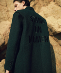 언아웃핏() UNISEX AOTT STAND ON MOMENT DOUBLE WOOL COAT GREEN