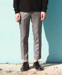 레브드앙뉴(REVE DE AGNEAU) EXTENTION CABRA SLACKS(GY)