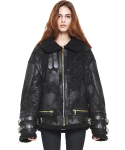 avider shearling jacket_black