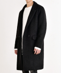 Boucle Marine Wool Coat (Black)