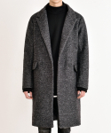 쟈니웨스트(JHONNY WEST) Boucle Marine Wool Coat (Bocaci)