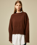 에드센스(ADDSENSE) FRONT AND BACK KNIT_BROWN