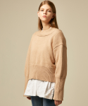 에드센스(ADDSENSE) FRONT AND BACK KNIT_BEIGE