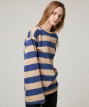 에드센스(ADDSENSE) BIG STRIPE EASY TSHIRT-BLUE