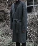 다이르 렌 모드(DAIR LEN MODE) No collar point mohair long coats_gray