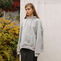 와드로브(WARDROBE) STRING POINT OVERFIT HOODIE_GRAY
