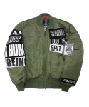 아임낫어휴먼비잉(I AM NOT A HUMAN BEING) The Legendary Out Patch MA-1 Jacket - Khaki
