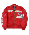 아임낫어휴먼비잉(I AM NOT A HUMAN BEING) Whats your name MA-1 Jacket - Red