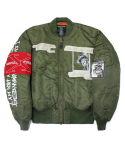 아임낫어휴먼비잉(I AM NOT A HUMAN BEING) Whats your name MA-1 Jacket - Khaki