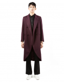 드퐁(DEFOND) DIAGONAL LINE LONG COAT
