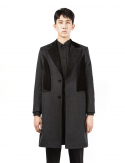 드퐁(DEFOND) VELVET MIX WOOL COAT