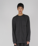로우 투 로우(RAW TO RAW) monk sweat jersey long sleeve(charcoal)