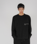 로우 투 로우(RAW TO RAW) monk sweat jersey long sleeve(black)