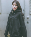 아빈(ARVVIN) zip up comfort HOODIE (black - 양기모)