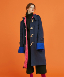 어나더에이() color lining wool duffle coat (navy)