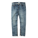 세인트페인() SP DAVIZ SIDE ZIP DENIM PANTS-BLUE