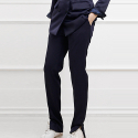 블락(BLAK) SLIM TAPERED LONG PANTS (NAVY)