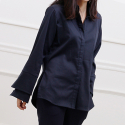 DOUBLE CUFFS SHIRT (NAVY)