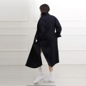 블락(BLAK) SIDE SLIT VOLUME WOOL COAT (NAVY)