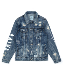 FOX WASHED DENIM TRUCKER JACKET