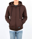 neverflow[기모]hoodie zip-up (brown)
