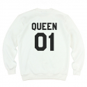 킹포에틱(KING POETIC) [킹포에틱] QUEEN POETIC CREWNECK KP-QC001 (IVORY)