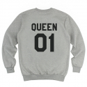 킹포에틱(KING POETIC) [킹포에틱] QUEEN POETIC CREWNECK KP-QC001 (MELANGE)