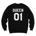 킹포에틱(KING POETIC) [킹포에틱] QUEEN POETIC CREWNECK KP-QC001 (BLACK)