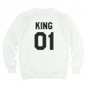 킹포에틱(KING POETIC) [킹포에틱] KING POETIC CREWNECK KP-KC001 (IVORY)