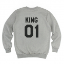 킹포에틱(KING POETIC) [킹포에틱] KING POETIC CREWNECK KP-KC001 (MELANGE)