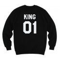 킹포에틱(KING POETIC) [킹포에틱] KING POETIC CREWNECK KP-KC001 (BLACK)
