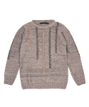 콰이트(QUITE) [콰이트] Seams Sweater (Beige)