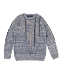 콰이트(QUITE) [콰이트] Seams Sweater (Blue)