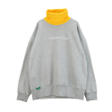 [UNITEDWAPPEN] ROMANTIQUE OVERSIZE TURTLENECK SWEATSHIRTS (GREY)