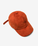 디프리크(D.PRIQUE) SUEDE BALL CAP-FLAME ORANGE