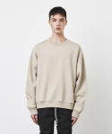 디프리크(D.PRIQUE) OVERSIZED SWEATSHIRT(FLEECE)-BEIGE