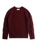 MERINO WOOL RAGLAN SLEEVE SWEATER