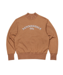 문수권세컨(MSKN2ND) RENAISSANCE HIGH NECK SWEATSHIRT CAMEL