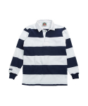 바바리안(BARBARIAN) 12OZ CLASSIC RUGBY JERSEYS WHITE/NAVY