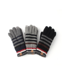 티엔피(TNP) 터치 글러브 STRIPE TOUCH GLOVES - BLACK.NAVY.GREY