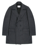 WOOL DOUBLE COAT-GREY